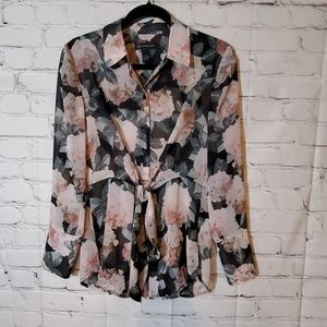 INC International Concepts Floral Blouse